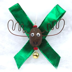Alaska Moose Nugget Christmas Ornament