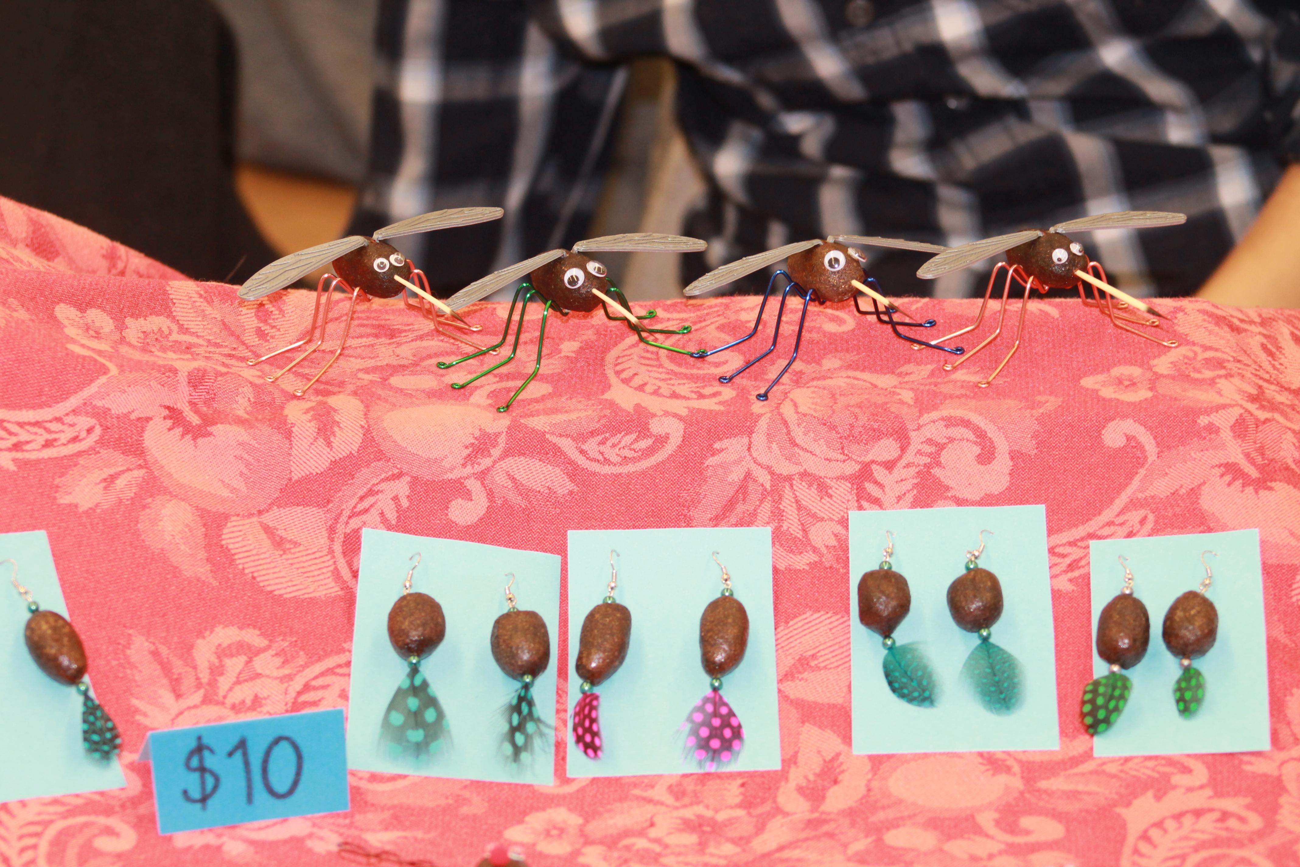 Moose Nugget earrings and Moosquitos