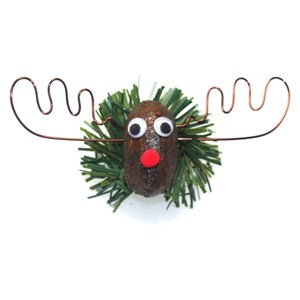 The Alaska Moose Nugget Christmas Pin 2