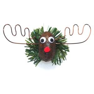 The Alaska Moose Nugget Christmas Pin 2