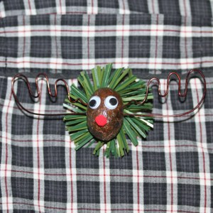 The Alaska Moose Nugget Christmas Pin 3