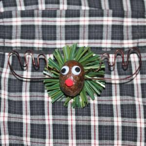 The Alaska Moose Nugget Christmas Pin 3