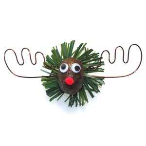 Alaska Moose Nugget Christmas Pin
