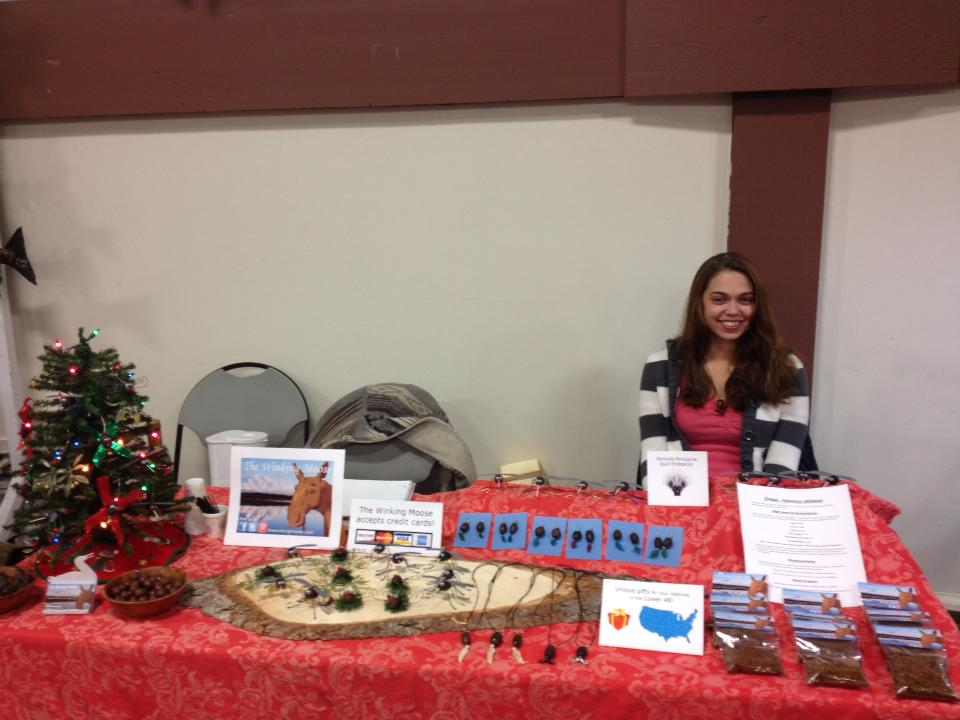 Pioneer Park Holiday Bazaar Table