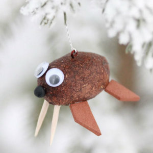 Alaska Moose Poop Walrus Ornament 2
