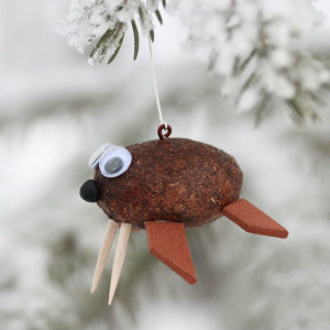 Alaska Moose Poop Walrus Ornament 4
